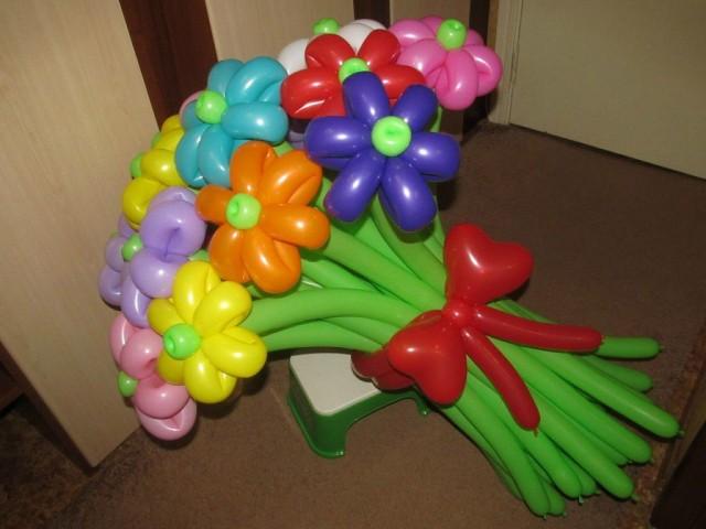цветов из шаров фото